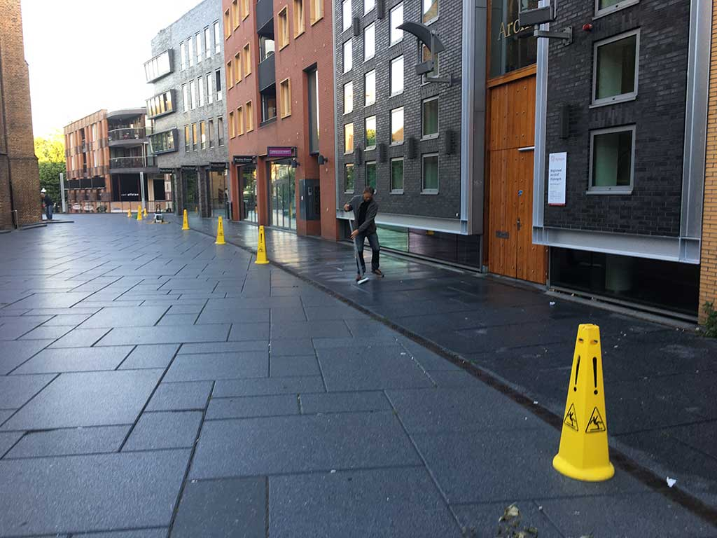 GripFactory MicroGrip Anti-Slip - paving stones shopping street