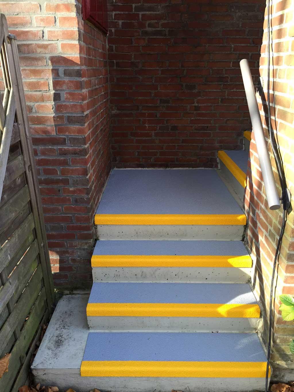 GripFactory PolyGrip Anti-Slip Stair Treads - concrete