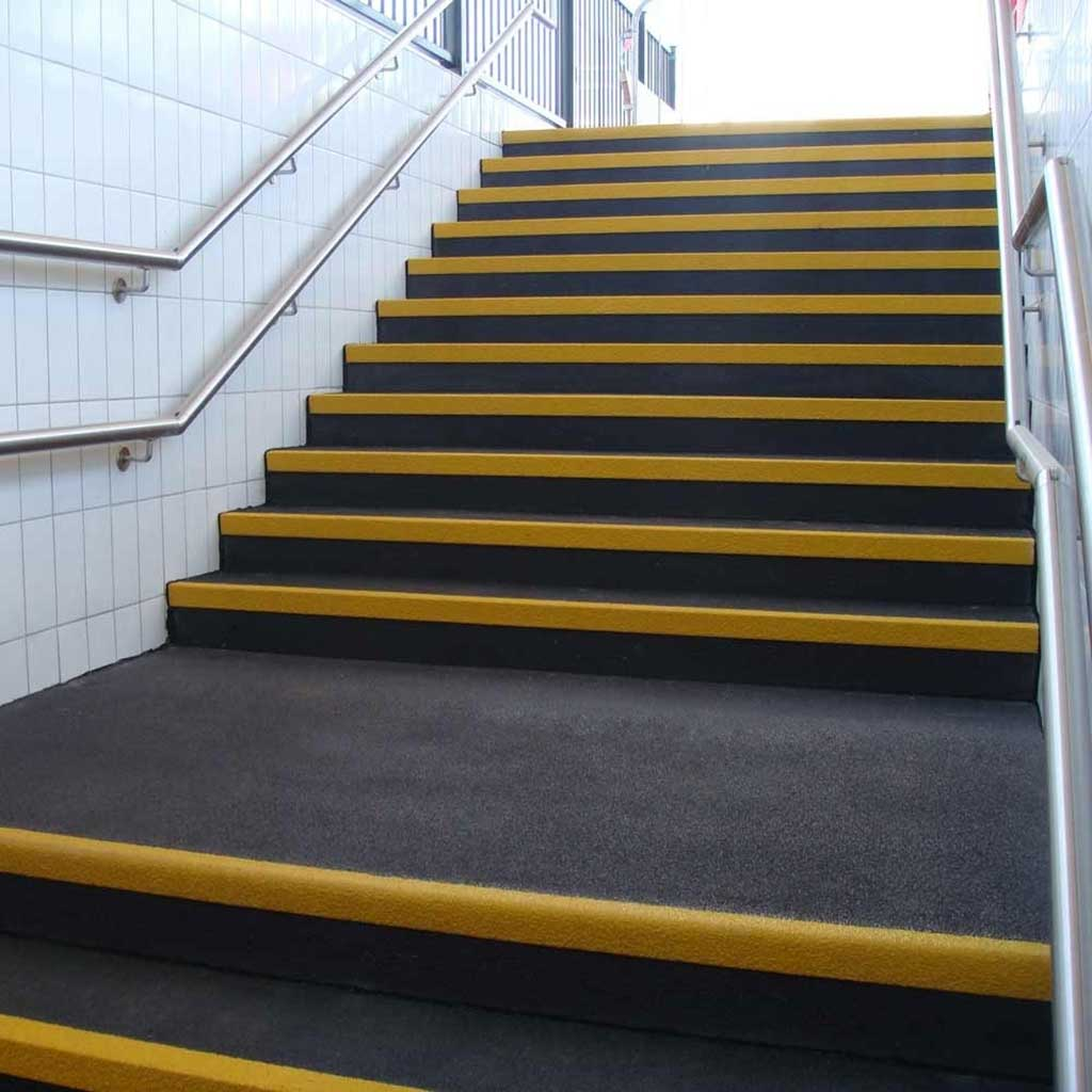 GripFactory PolyGrip Anti-Slip Stair Treads - tiles