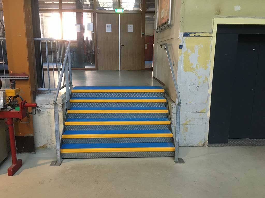 GripFactory PolyGrip Stair Treads anti-slip tear plate