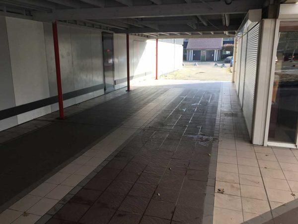 GripFactory TitaniumGrip antislip - tegels winkelcentrum
